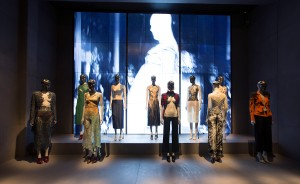 1. Installation view of 'London' gallery, Alexander McQueen Savage Beauty at the V&A (c) Victoria and Albert Museum London