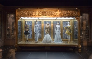 Installation view of 'Romantic Gothic' gallery, Alexander McQueen Savage Beauty at the V&A (c) Victoria and Albert Museum London