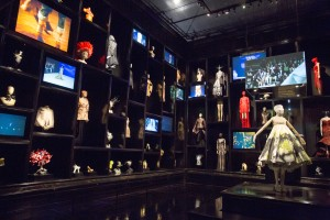 6. Installation view of  'Cabinet of Curiosities' gallery, Alexander McQueen Savage Beauty at the V&A (c) Victoria and Albert Museum London