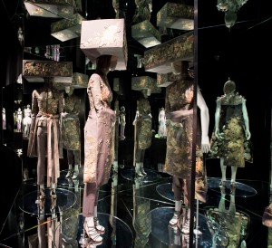 7. Installation view of 'Romantic Exoticism' gallery, Alexander McQueen Savage Beauty at the V&A (c) Victoria and Albert Museum London