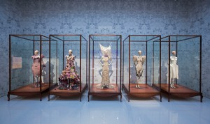 9. Installation view of 'Romantic Naturalism' gallery, Alexander McQueen Savage Beauty at the V&A (c) Victoria and Albert Museum London